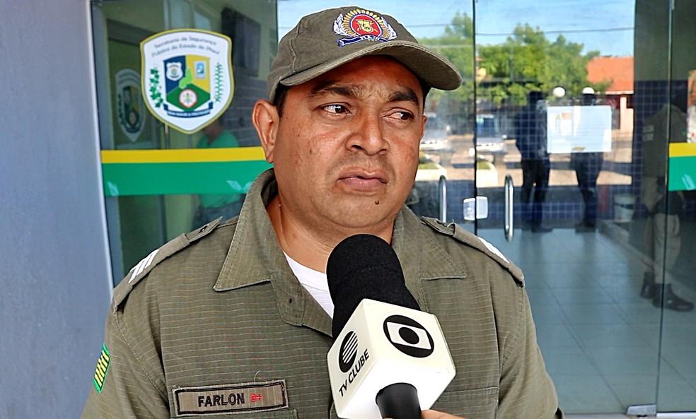 Sargento Farlon Machado, do 2º Batalhão da PM, em Parnaíba. (Foto: Kairo Amaral/TV Clube)