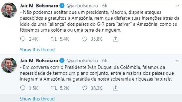 TWITTER/REPRODUÇÃO (Foto: TWITTER/REPRODUÇÃO, via BBC News Brasil)