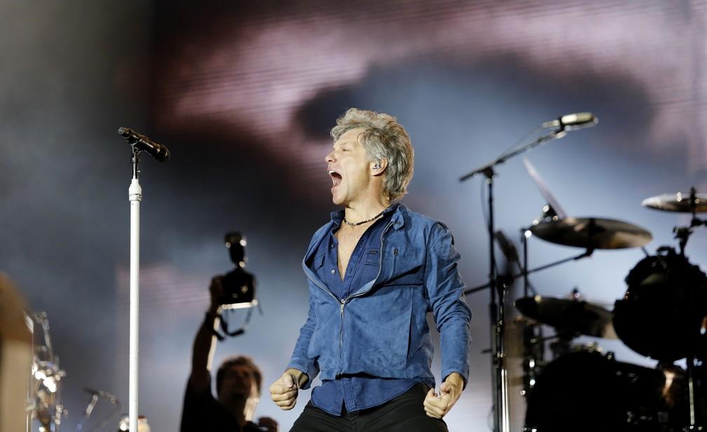 Resultado de imagem para Bon Jovi faz duas horas de show com hits, rock rio 2017