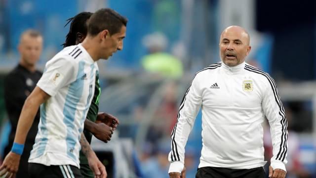 Técnico Sampaoli em Nigéria x Argentina