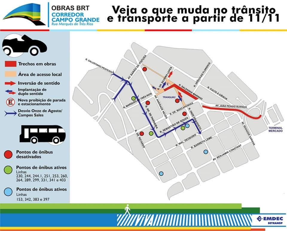 BRT Campinas: obras na região central afetam 17 linhas de ônibus e desativam pontos de parada por 60 dias - Notícias - Plantão Diário