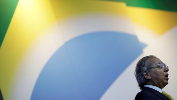 O ministro da Economia, Paulo Guedes; proposta de reforma da Previdência do governo é acompanhada de perto por atores do mercado  (Foto: Reuters/via BBC News Brasil)