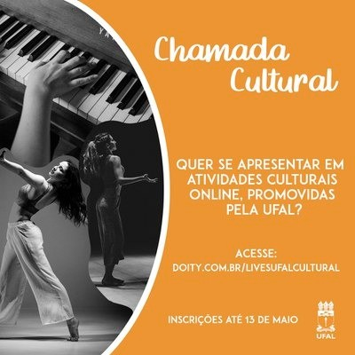 Ufal promove Chamada Cultural para exibição online de trabalhos artísticos no isolamento social