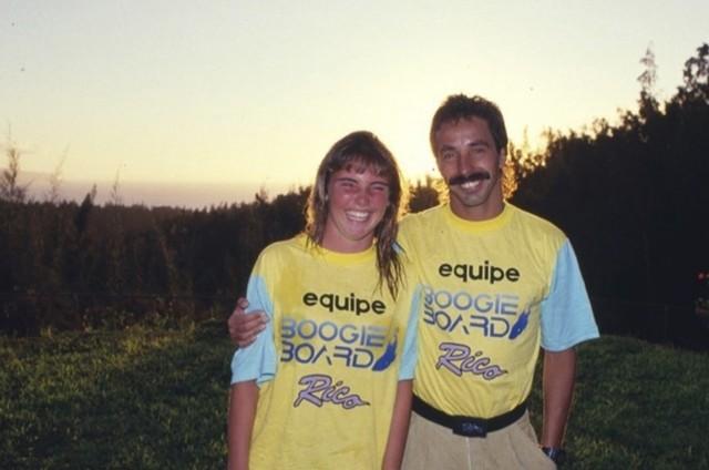 Glenda Kozlowski e Rico de Souza (Foto: Gordinho/Acervo Rico de Souza)