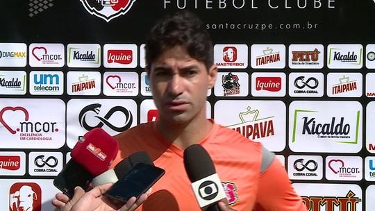 Com jejum longo, Marcos Martins sonha em marcar gol pelo Santa Cruz