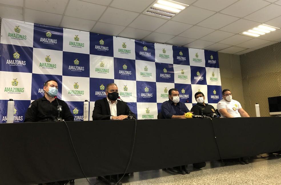 Dados foram repassados durante coletiva de imprensa nesta terça-feira (8).— Foto: Matheus Castro/G1