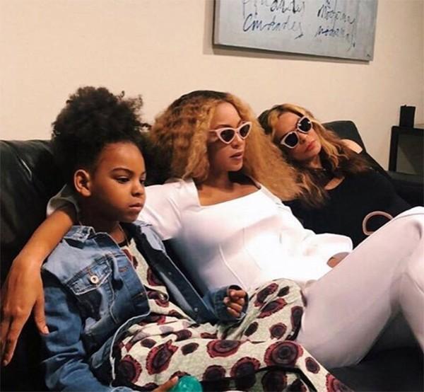 Blue Ivy, Beyoncé e Tina Knowles (Foto: Instagram)