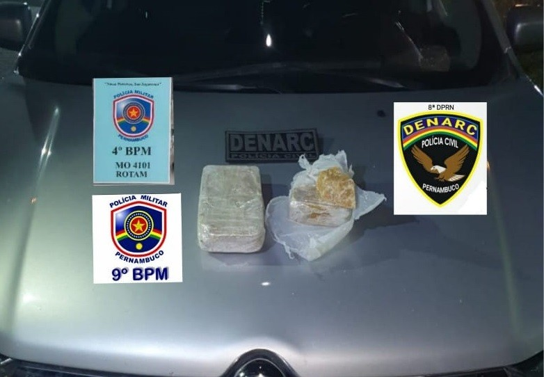 Homem é preso com 1,4 kg de crack em estacionamento de supermercado, em Caruaru