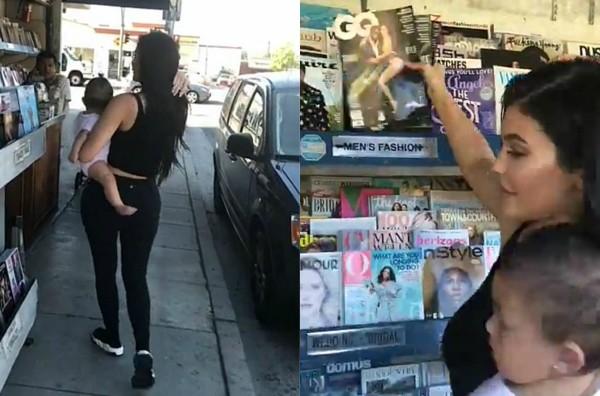 Kylie Jenner  e Stormi (Foto: Reprodução Snapchat)
