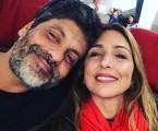 Pedro Vasconcelos com a mulher, Flávia Garrafa | Reprodução