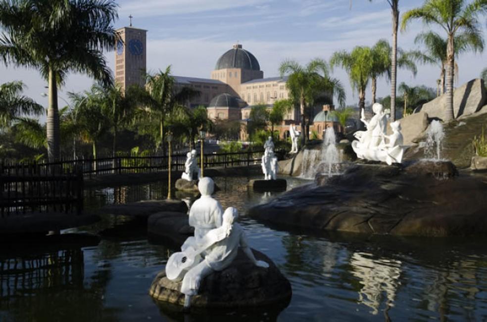 Fonte fica no Morro do Presépio, no Santuário Nacional de Aparecida (Foto: Santuário Nacional/ Reprodução)