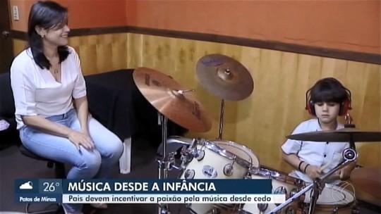 Pais incentivam a paixão pela música dos filhos em Uberlândia