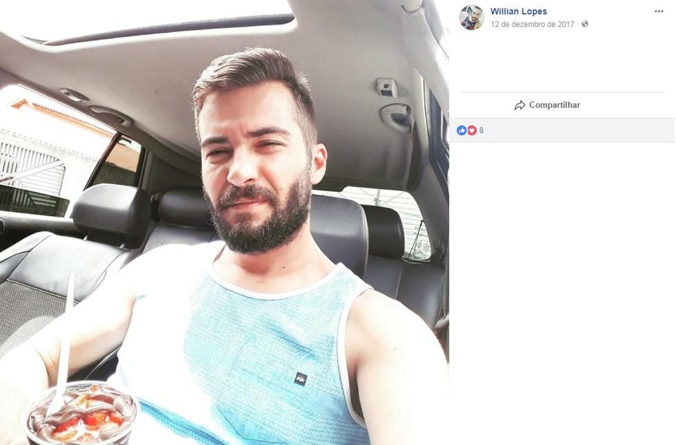 Rapaz morreu baleado durante troca de tiros (Foto: Reprodução/Facebook)