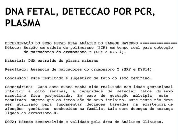 Resultado de imagem para exame de sangue para saber o sexo do bebe