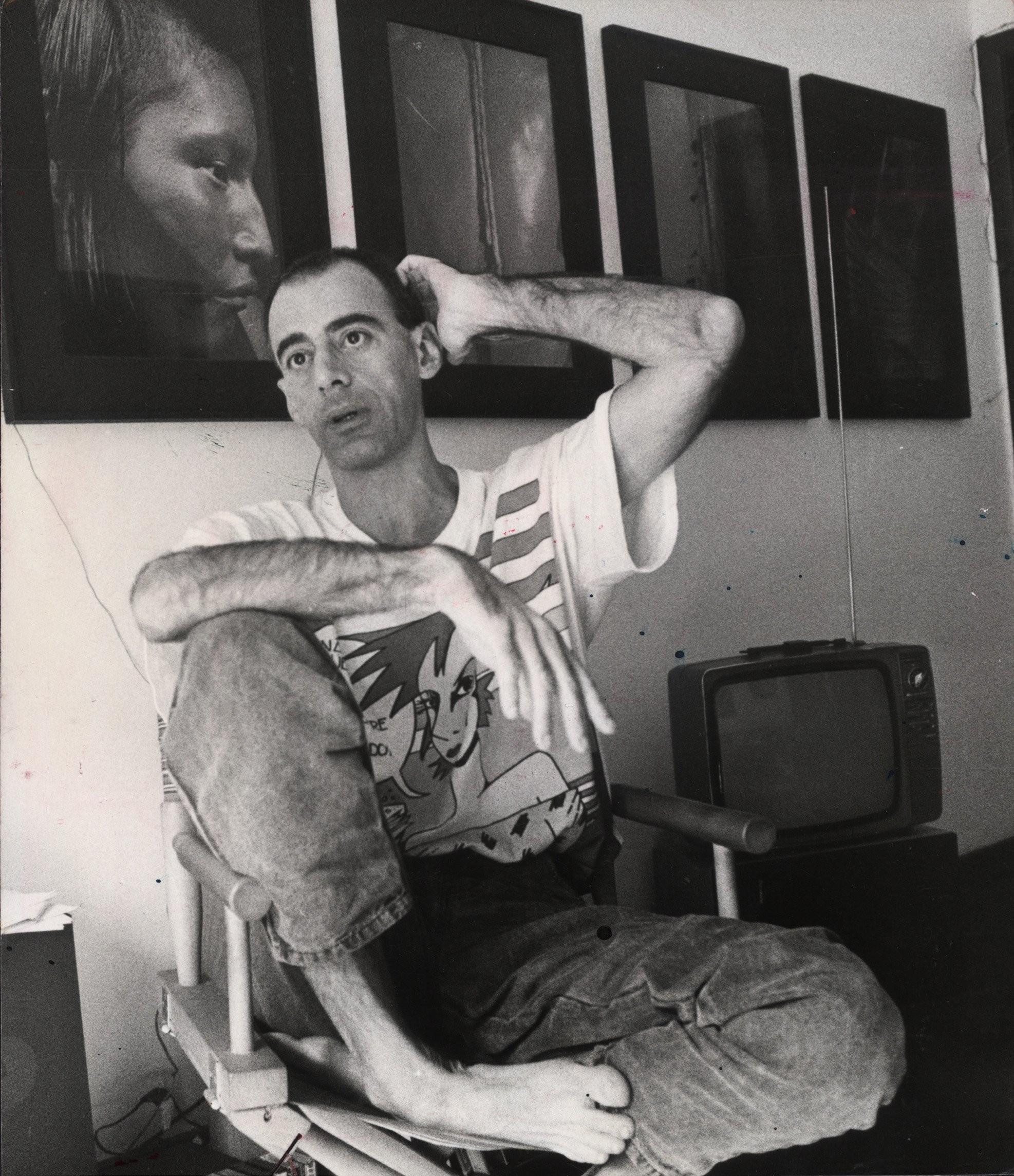 O escritor Caio Fernando Abreu, em 1988