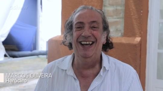 Marcos Oliveira fala sobre Heráclito, seu personagem em 'Deus Salve o Rei'