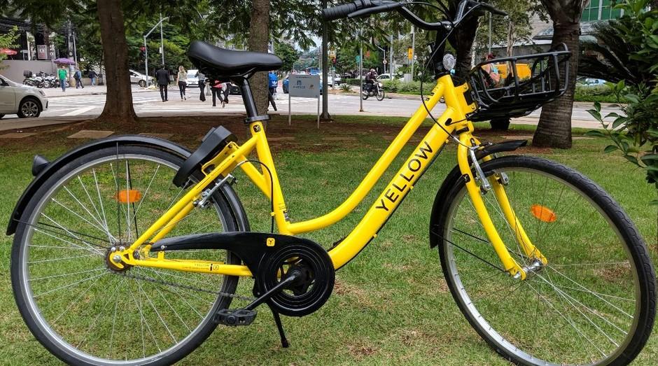 Bike da Yellow. Empresa recebeu o maior investimento série A da história (Foto: Divulgação)