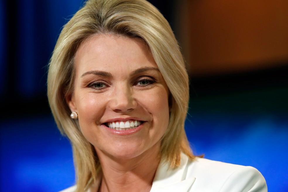Heather Nauert será indicada como embaixadora dos Estados Unidos na ONU, em imagem de arquivo — Foto: Alex Brandon/AP