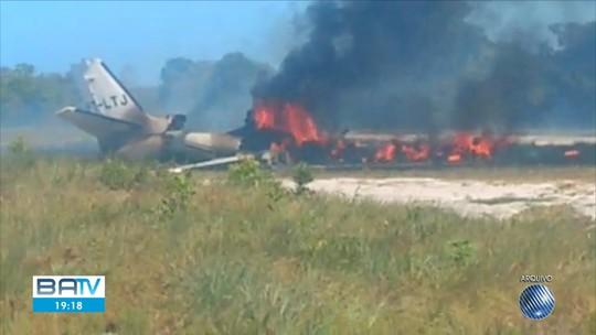 Quarta vítima morta após acidente com jato na Bahia era o copiloto da aeronave; avião tinha sido emprestado