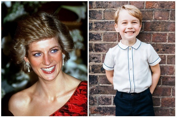 Princesa Diana e Príncipe George (Foto: Getty Images / Instagram @kensingtonroyal)