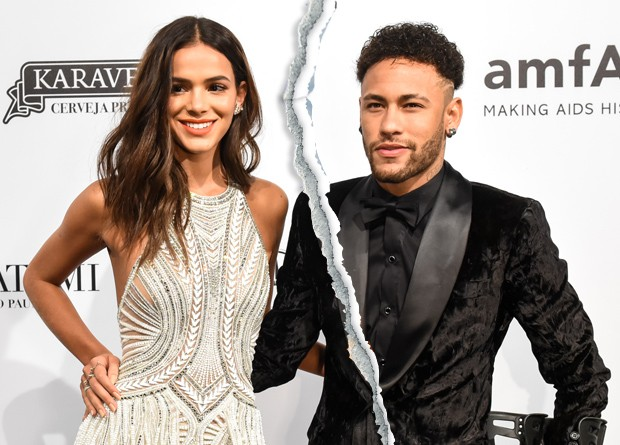 SAO PAULO, BRAZIL - APRIL 13: (L/R) Bruna Marquezine and Neymar Jr. attend the 2018 amfAR gala Sao Paulo at the home of Dinho Diniz on April 13, 2018 in Sao Paulo, Brazil. (Photo by Gabriel Cappelletti/Getty Images for amfAR) (Foto: Getty Images for amfAR)