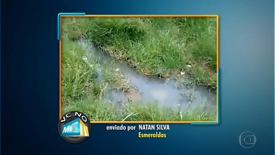 Esgoto a céu aberto provoca desconforto a moradores do bairro Novo Retiro, em Esmeraldas
