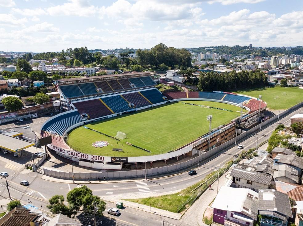 Estádio Centenário, em Caxias, vai receber o Gre-Nal — Foto: Reprodução Caxias