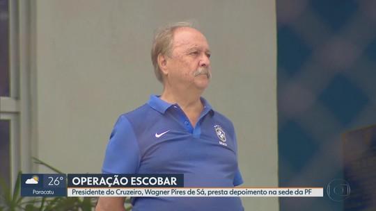 Presidente do Cruzeiro depõe na PF e pode passar a ser investigado na Operação Escobar