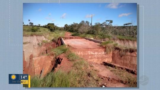 Pontes são danificadas na área rural e moradores enfrentam dificuldades em Tacuru, MS