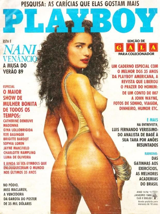 Nani Venâncio foi capa e recheio da Playboy em janeiro de 1989 (Foto: Divulgação/Playboy)
