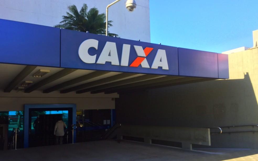 Agência central da Caixa em Goiânia — Foto: Murillo Velasco/G1