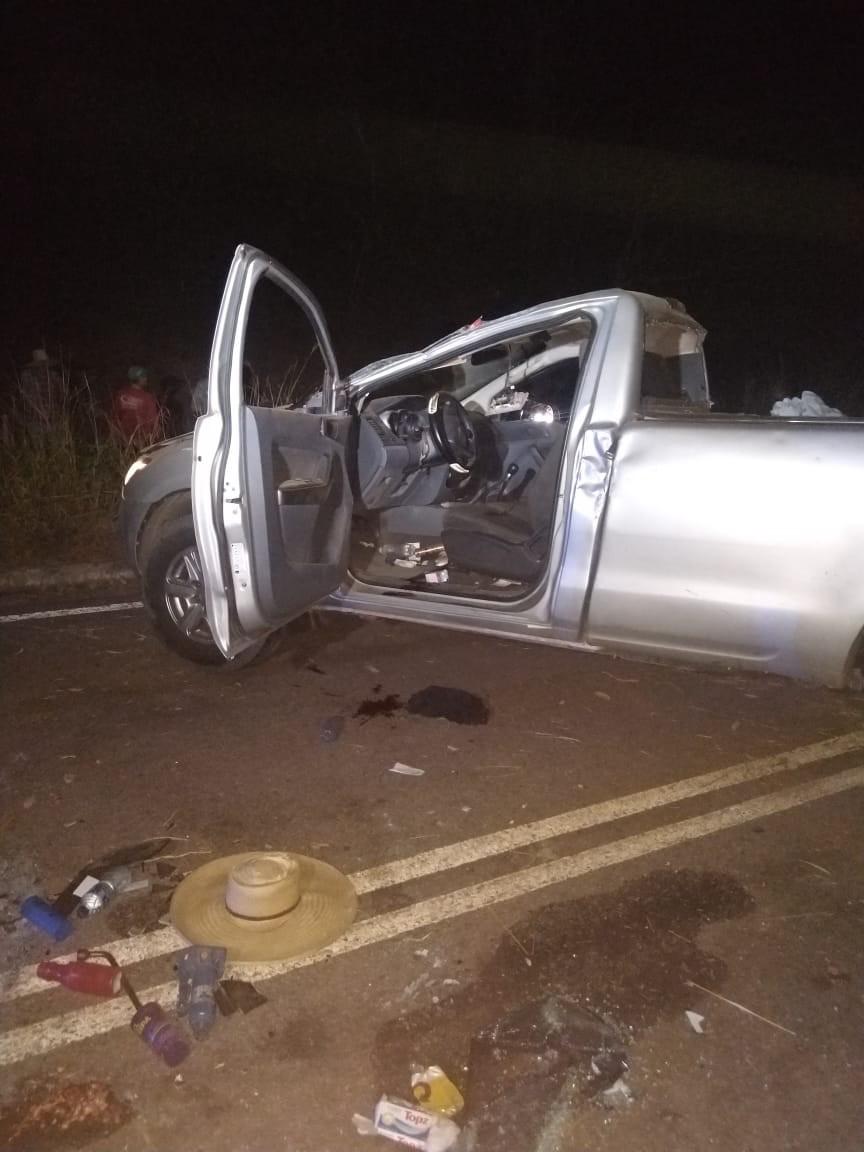 Jovem sem CNH perde controle de caminhonete e amigo que estava junto morre no local do acidente em MT