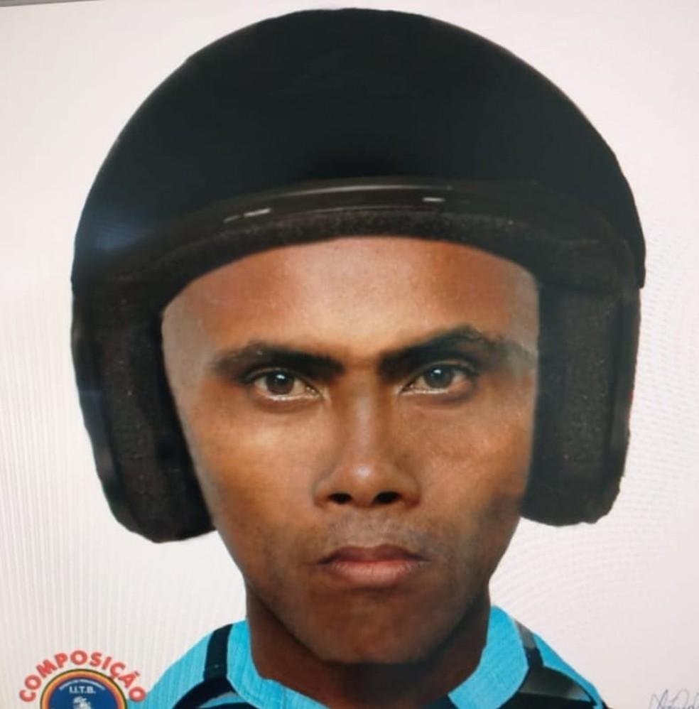 Polícia Civil divulgou retrato falado de homem que estuprou funcionária de posto de saúde em Jaboatão — Foto: Polícia Civil/Divulgação