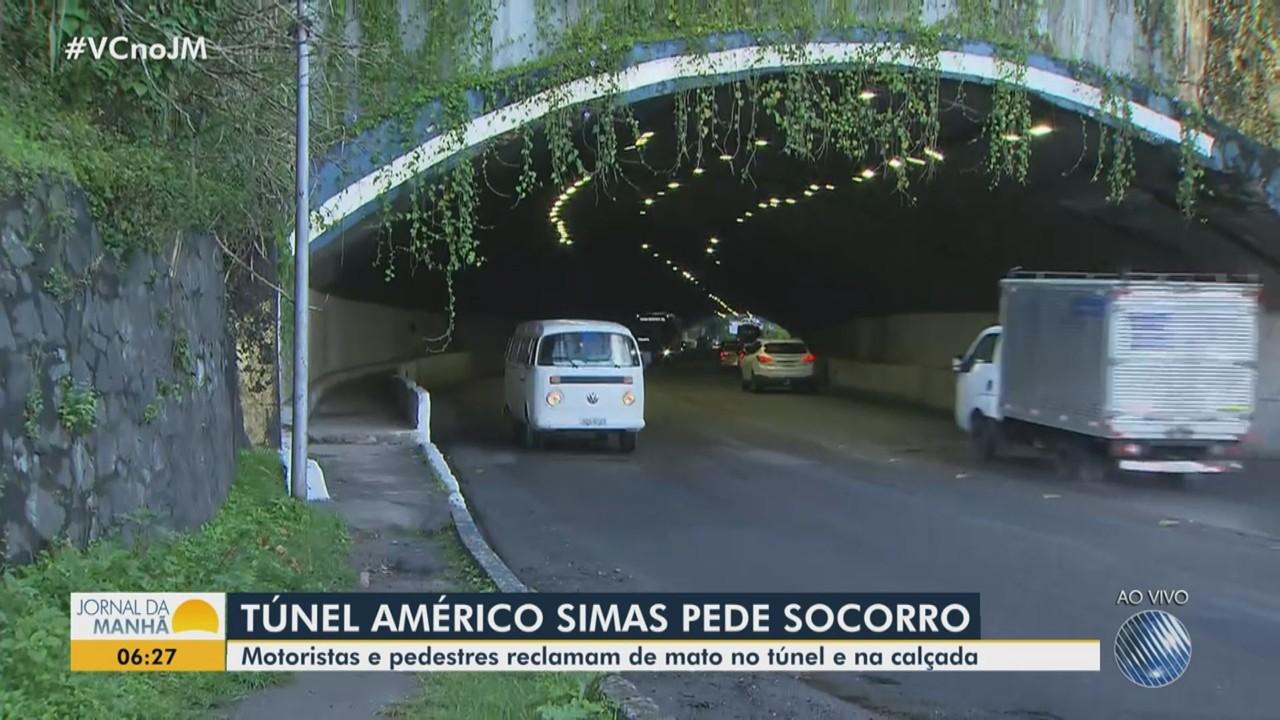 Motoristas e pedestres reclamam das más condições do túnel Américo SImas