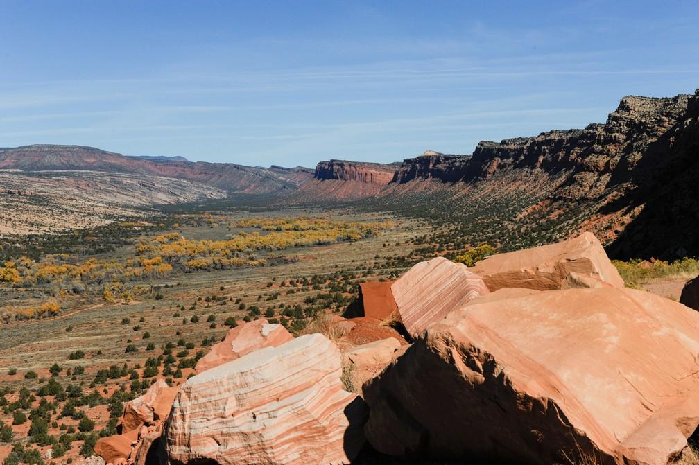 Vista do Monumento Nacional Bears Ears, em Utah, nos Estados Unidos (Foto: Andrew Cullen/Reuters)