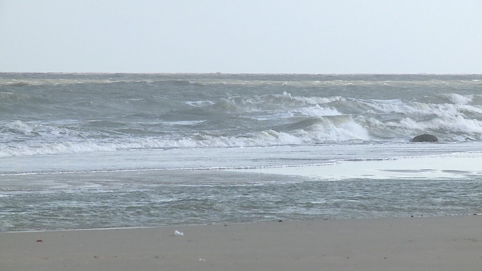 Ventos podem chegar até 60 km/h no litoral de São Luís, alerta Marinha do Brasil. — Foto: TV Mirante