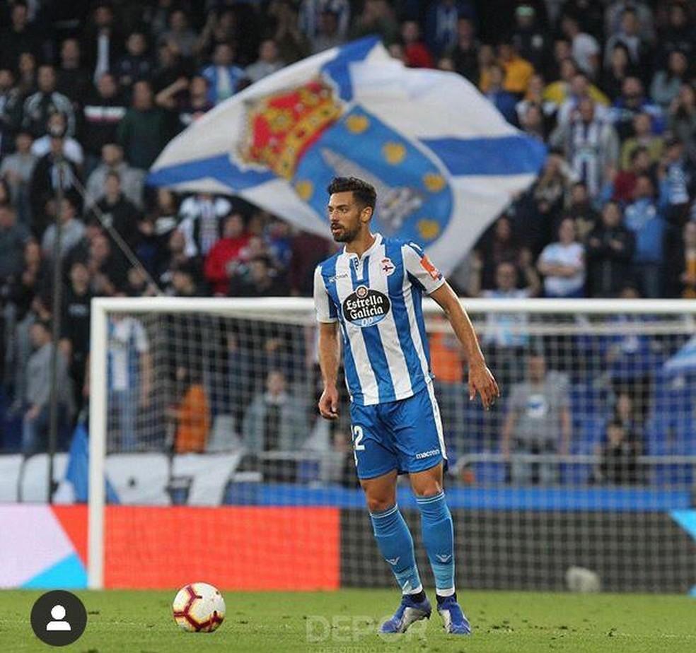 Pablo Marí viveu grande fase na temporada passada pelo La Corunã, na segunda divisão da Espanha — Foto: Reprodução / Deportivo La Coruña