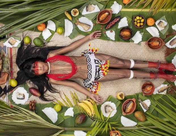 Kawakanih Yawalapiti, 9 anos, do Alto Xingu, Mato Grosso (Foto: Gregg Segal)
