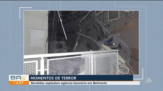 Imóveis vizinhos de agência explodida no interior da Bahia ficam com estrutura danificada após ataque