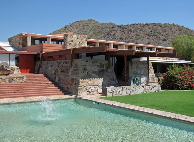 Hoje, a Taliesin West é um espaço utilizado pela Escola de Arquitetura de Taliesin (Foto: Wikimedia Commons / Lar )