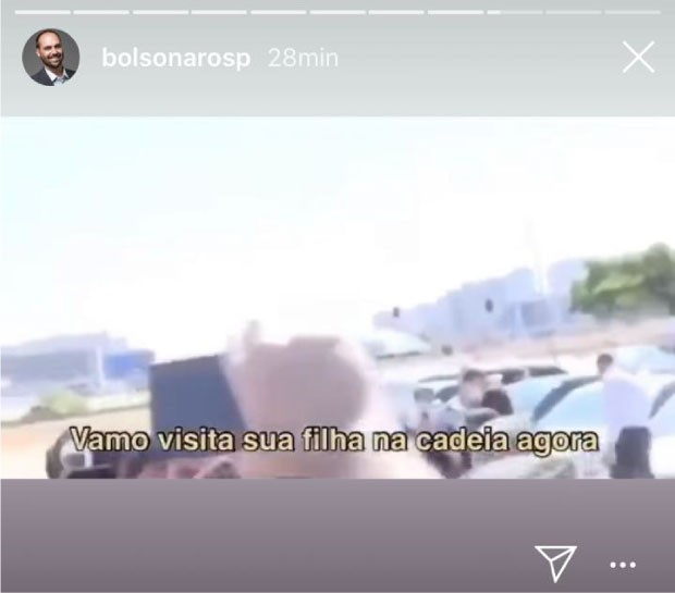 Publicação do deputado Eduardo Bolsonaro no Instagram