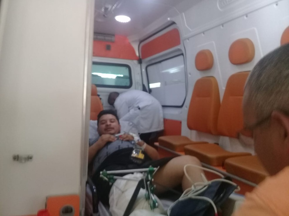 Eliedelson Possidônio, de 32 anos, estava internado no Hospital Geral do Estado (HGE) e foi transferido para Fortaleza — Foto: Cid Vaz / TV Bahia