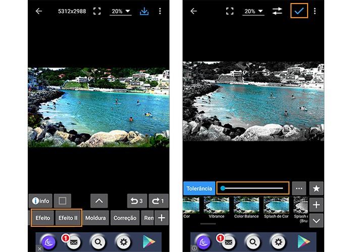 Aplicação de efeitos na imagem (Foto: Reprodução/Barbara Mannara)