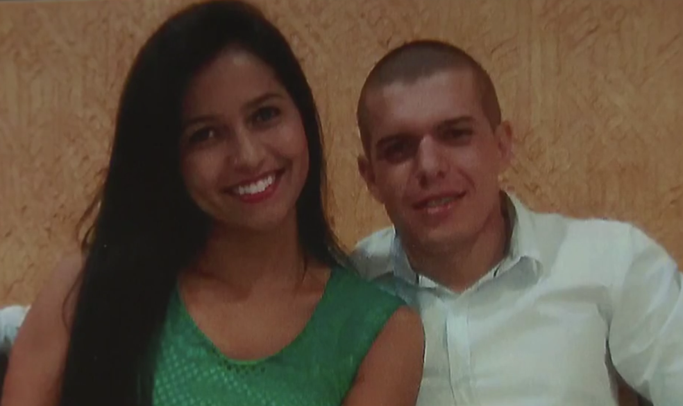 Policial militar Ronan Menezes Rego e a ex-namorada Jessyka Laynara (Foto: TV Globo/Reprodução)