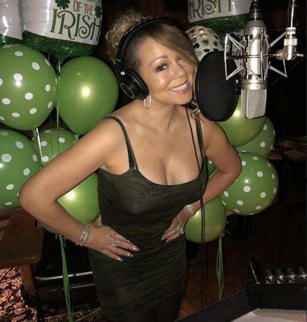 A cantora Mariah Carey com a cintura fina após sua cirurgia bariátrica (Foto: Instagram)