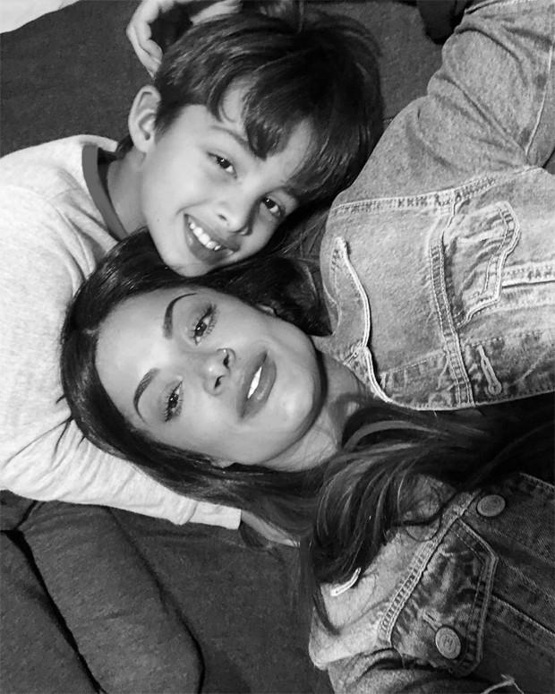 Aline Risc ado e o filho, Nathan (Foto: Reprodução / Instagram)