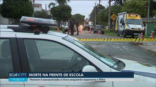 Homem é morto a tiros em frente a escola, em Curitiba