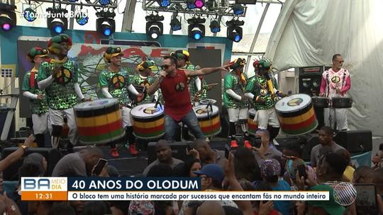 Olodum faz festa em comemoração aos 40 anos do grupo no Pelourinho, no Centro Histórico