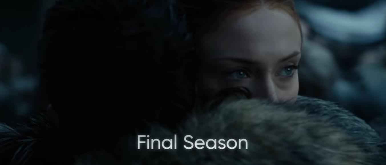 Cena com Jon Snow e Sansa Stark (Foto: Reprodução/YouTube)