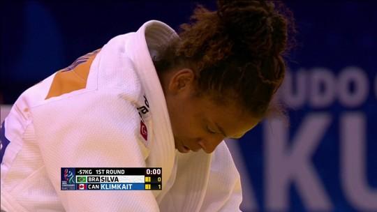 Rafaela Silva perde para canadense na estreia do Mundial e foca na disputa por equipes